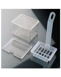 Cubeta y cestillo de tinción TPX autoclavable