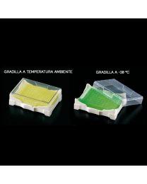 Gradilla Isofreeze con gel refrigerante indicador de temperatura 2 unidades
