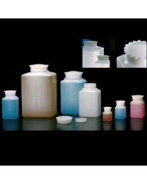 Botellas rectangulares con tapón estrella graduada blanca translúcida