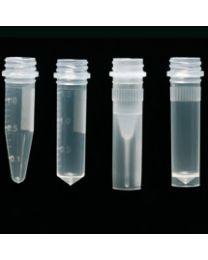 Microtubo a rosca libres de DNAsa, RNAsa y pirógenos