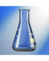 Matraz Erlenmeyer graduado en vidrio borosilicato
