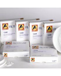 1250 Papel filtro cualitativo medio bajo en cenizas