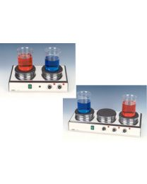 d-36 -hotplate 2-position, top plates 145 mm Ø/separate temp. control, max.400ºc