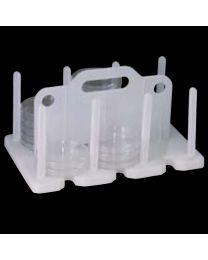 Almacenamiento y transporte placas Petri de 90 a 100 mm.