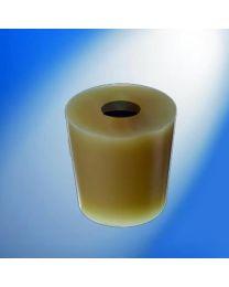 Tapón silicona con orificio para equipos de filtración